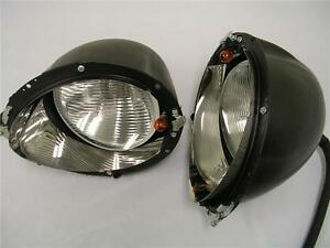 1939 Ford Deluxe Headlight Kit Turn Signals Glass Lens Stainless Trim Rings