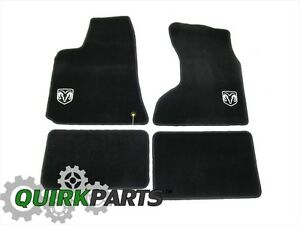 05 10 Dodge Charger Awd Dark Grey Carpet Floor Mats With Logo Genuine Mopar Oem