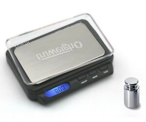 Digital Pocket Scale TruWeigh ZENITH 100 x 0.01g with 100g Calibration Weight