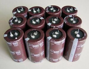 10pcs 1000uf 450v Radial Electrolytic Capacitors Pcb Dip Component 20 105 New