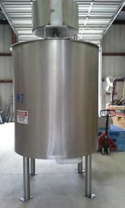 500 Gallon Lee Sanitary Jacketed Stainless Steel Kettle Double Motion Mix Tank