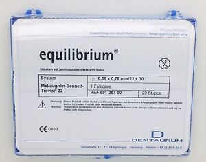 Equilibrium Dentaurum Orthodontic Brackets Mbt Full Set 20pcs