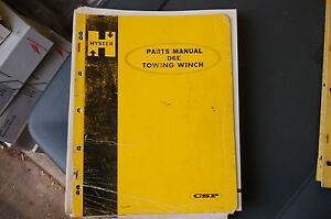Hyster D6e Towing Winch Parts Manual Book Catalog List Cat Tractor Dozer Crawler