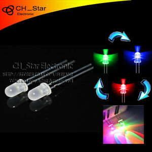 1000pcs Diffused Fast Flash Led 5mm Rgb 2 Pin Automatically Flashing Led Diodes