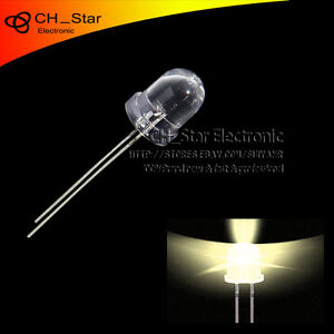 500pcs 8mm Led Diodes Round Top Warm white Light Emitting Water Clear