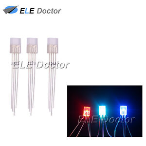 500pcs 2x5x7mm Water Clear Rgb Light Common Cathode Rectangle Square Led Diodes