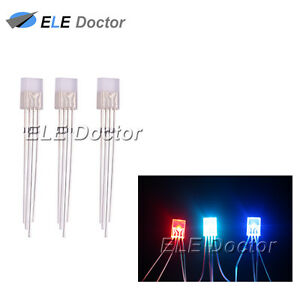 1000pcs 2x5x7mm Water Clear Rgb Light Common Cathode Rectangle Square Led Diodes