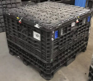 Trade Show Shipping Container Storage Pallet Box With Lock Collapsible 45x48x34