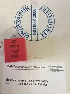 Mkp 4 2 2uf Mkp422uf Wima Capasitor Lot Of 61 Pcs