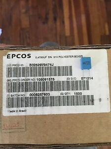 B32529v9474j Epcos Tdk Capasitor Lot Of 1500pcs