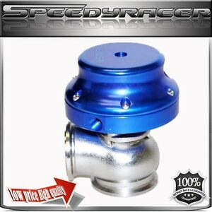Emusa 38mm Wastegate V band Blue Anodized Fits Honda Accord Audi Civic Sentra