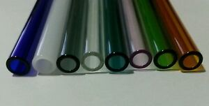 16 Piece 8 Borosilicate Tubing 12mm Od 2mm Thick Wall Colored Pyrex Tube Coe 33