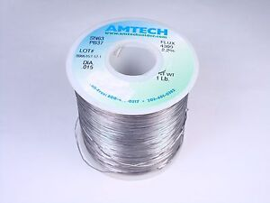 4300 Amtech Solder Wire Sn63 Pb37 Tin Lead 015 2 2 Flux Core 14oz Partial