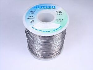 4300 Amtech Solder Wire Sn63 Pb37 Tin Lead 015 2 2 Flux Core 15oz Partial