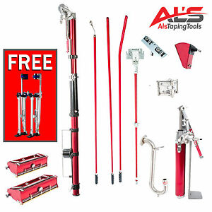 Level5 Full Set Of Drywall Tools With 7 10 Inch Flat Boxes Free Stilts New