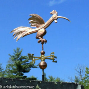 Copper Fancy Silly Rooster Weathervane Made In Usa 324
