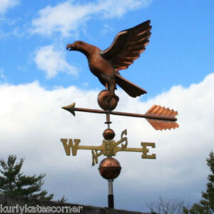 Copper Eagle Weathervane W Brass Directional Made In Usa 252