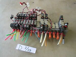 Used Air Pneumatic Manifold W Smc Switches Make Offer