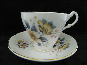 Royal Ascot Bone China Tea Cup And Saucer Vintage