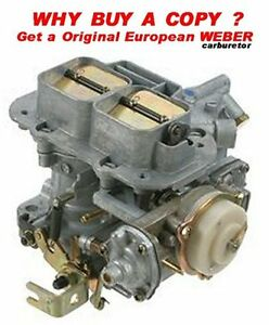 Weber 32 36 Dgev Carb 1 Yr Warr Made In Spain Electric Choke
