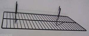 Gridwall Slatwall Slat Grid Pegboard Panel Black Wire Shelf 24 x12 Lot Of 6 New