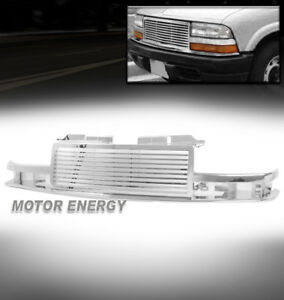 98 04 Chevy S10 98 05 Blazer Horizontal Main Upper Hood Grille Grill Abs Chrome