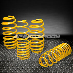 1 25 Drop Suspension Lowering Springs Spring 06 12 Vw Golf Rabbit S Tdi R Yellow