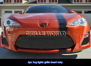 Fits 2013 2016 Scion Fr S Fog Light Cover Black Billet Grille Insert