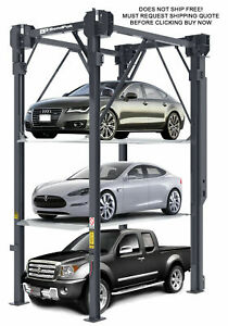 New Bendpak Pl 14000 4 Post Triple Car Vehicle Automotive Hydraulic Parking Lift