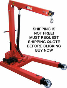 Norco 3 Ton Automotive Mobile Electric Hydraulic Lift Cherry Picker Engine Crane