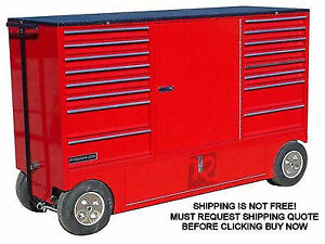 New Rsr Nascar Pit Box Pitbox Rolling Portable Racing Toolbox Cart Kart Tool Box
