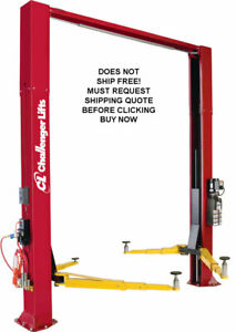 Usa Made Challenger Cl10v3 Plus Cl10 10 000 Lb 2 Two Post Auto Automotive Lift