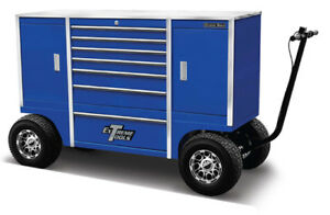 Blue Extreme Pit Box Pitbox Rolling Portable Racing Toolbox Cart Kart Tool Box