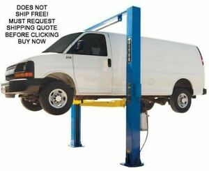 New Titan 10000 Lb 10k 2 Two Post Auto Automotive Asymmetric Clear Floor Lift