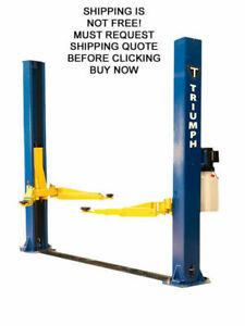 New Triumph 11000 Lb 11k 2 Two Post Auto Automotive Car Truck Floor Plate Lift