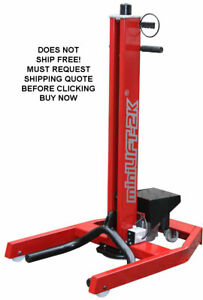 New Hoffman 5 000 Lb 5k Single Post Portable Mini Auto Car Lift Body Shop Hoist