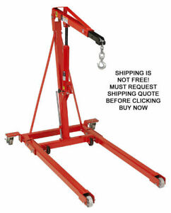 Norco 2 500 Lb Automotive Folding Hydraulic Lift Cherry Picker Engine Crane