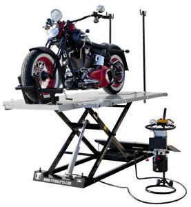 New Titan 1500 Lb Electric Motorcycle Atv Utv Table Lift With Side Extensions