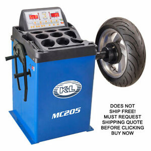 K Amp L Supply Mc205 Motorcycle Automotive Wheel Tire Balancer Balancing Machine
