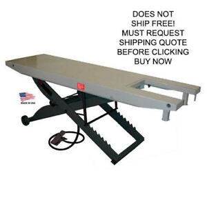 Handy Sam 1000 Lb Air Powered Pneumatic Motorcycle Lift Lifting Table With Vise