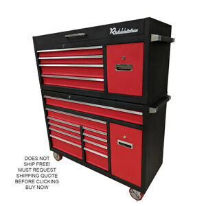 Re16d Redline 16 Drawer Top Bottom Toolbox Tool Box Chest Ball Bearing Drawers
