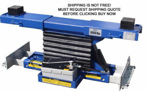 New 6000 Lb Kernel Hydraulic Rolling Sliding Bridge Air Jack 4 Post Parking Lift
