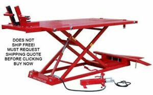 New Titan 1500xlt 1500 Lb Motorcycle Atv Lift Lifting Table With Side Extensions