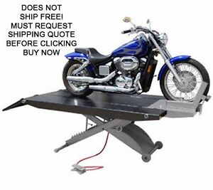 New Titan 1000d Xlt 1000 Lb Motorcycle Lift Lifting Table With Side Extensions