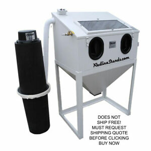 New 3624 Cyclone Abrasive Sand Media Glass Bead Blast Blaster Stand Up Cabinet