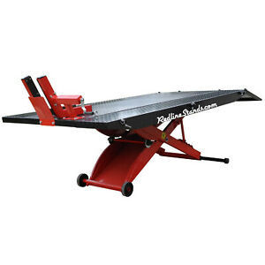New Redline Dt1k Xlt Red Motorcycle Lift Lifting Table With Side Extensions