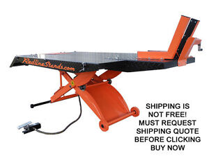 New Redline Hd1k xlt Orange Motorcycle Lift Lifting Table With Side Extensions