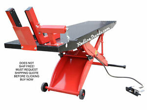 New Redline Dt1k Red Drop Tail Motorcycle Atv Lift Table No Side Extensions