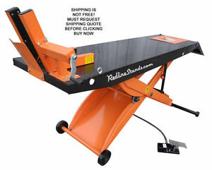 New Redline Hd1k Orange Motorcycle Lift Lifting Table Atv Vise Industrial Quad
