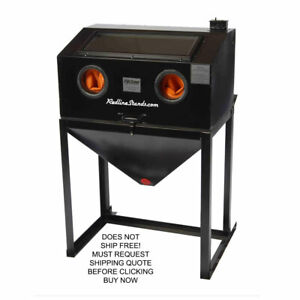 New Cyclone Ft3522 Abrasive Sand Blaster Blast Cabinet Glass Bead Media Usa Made